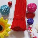 Пушистая проволока шенил (синель)  Красная