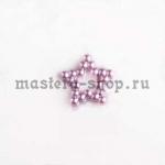 Полубусины Ажурная звездочка 12 мм. 10 шт. Сиреневые