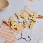 Пуговица деревянная Бабочка