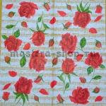 Салфетка Розы с нотами