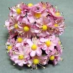 Бумажные цветочки. Мини цветочки. Розовые 3,5 см