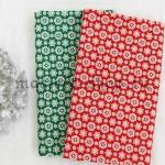 Ткань из коллекции Новогодняя: Снегопад красная
