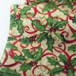 Ткань для печворка и рукоделия Омела средняя с лентами