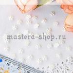 Полубусины Жемчужный цветок Белый 5 мм. 10 шт.