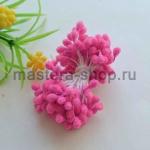Тычинки большие сахарные Розовые (5 мм)
