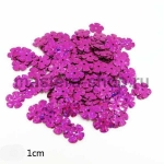 Пайетки цветок 10 мм голографик пятилепестковый Малиновый - 150ш