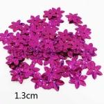 Пайетки цветок 13 мм голографик шестилепестковый Малиновый - 80ш