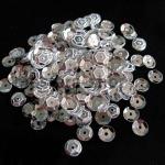Пайетки круглые 6 мм Серебро - 10 гр.