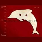 Пуговица деревянная Дельфин