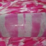 Капрон для цветов Розовый+белый