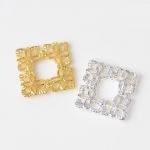 Серединка для бантика Ажурный квадрат золото -  1 шт.