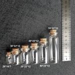 Бутылочка стеклянная 40 * 22 * 12 мм, 7 мл.
