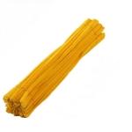 Пушистая проволока шенил (синель)  Желтая темная