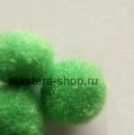 Помпоны 8-10 мм. Зеленые. 5 шт.