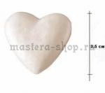 Сердце из пенопласта. Высота 3,5 см.