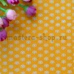Фетр в цветочек. Желтый