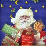 Салфетка Дед Мороз с подарками