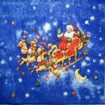 Салфетка Санта в санях