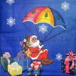 Салфетка Дед Мороз с парашютом