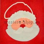 Салфетка Дед Мороз на алом