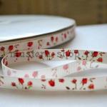 Репсовая лента Розочки Красные