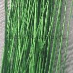 Проволока для цветов из капрона: 0,55 мм (№24). Зеленый
