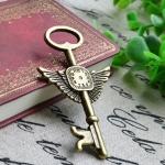 Винтажная подвеска Ключ большой с крыльями