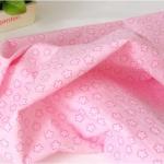 Ткань для печворка и рукоделия Розовые цветочки