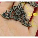 Уголок ажурный 33 мм - бронза