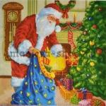 Салфетка Санта принес подарки