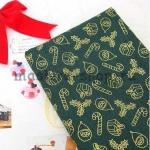 Ткань из коллекции Подарки Санты: Подарки зеленая