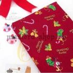 Ткань из коллекции Подарки Санты: Носки. Красная