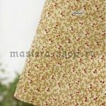 Ткань для печворка и рукоделия Мох бежевый