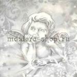 Салфетка Ангелочек в серых тонах