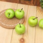 Декоративные яблочки. Зеленые. Диаметр 35 мм