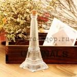 Стеклянная бутылка Эйфелева Башня средняя