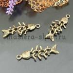Винтажная подвеска Рыбий скелет-цепочка