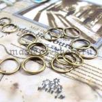 Кольцо одинарное разъемное бронза 6 мм - 20 шт