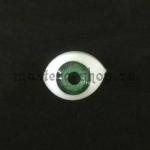 Глаза-рыбки для кукол и игрушек. Акрил Зеленые 16.5 мм (пара)