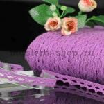 Кружево зубчиками. Фиолетовый. 1,1 см