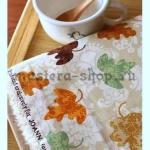Ткань для печворка и рукоделия Узорчатые листья