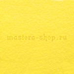 Фетр листовой. 2 мм. Желтый светлый