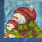 Салфетка Снеговики Let it snow!