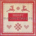 Салфетка Орнамент Merry Christmas