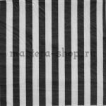 Салфетка Полоска широкая черная