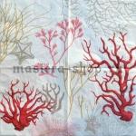 Салфетка Кораллы красные