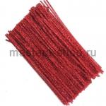 Блестящая проволока шенил (синель) Красная