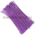 Блестящая проволока шенил (синель) Фиолетовая светлая