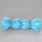 Неравномерная проволока шенил (синель) Голубая