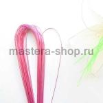 Проволока для цветов из капрона: 0,9мм (№20). Розовый